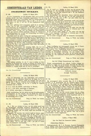 Handelingen van de Raad 1912-03-11