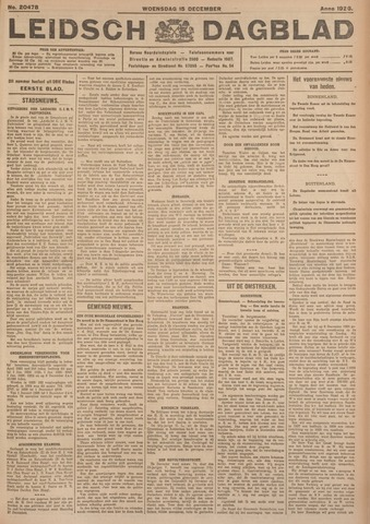 Leidsch Dagblad 1926-12-15