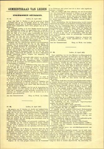 Handelingen van de Raad 1933-04-21