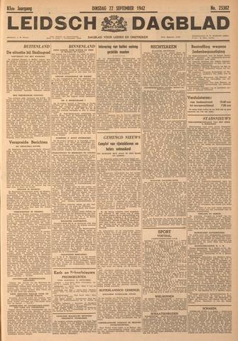 Leidsch Dagblad 1942-09-22
