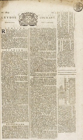 Leydse Courant 1815-01-11