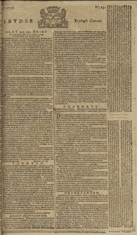 Leydse Courant 1755-10-31