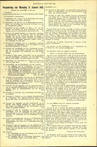 Handelingen van de Raad 1935-01-21