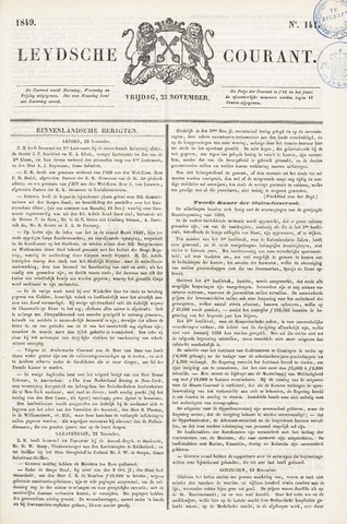 Leydse Courant 1849-11-23