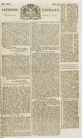 Leydse Courant 1825-05-11