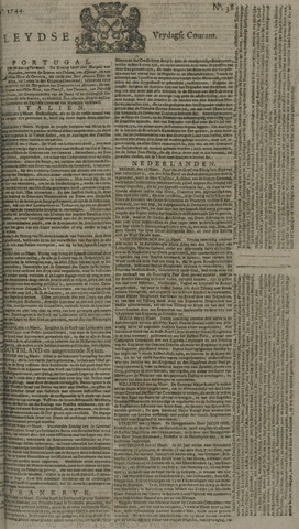 Leydse Courant 1744-03-27