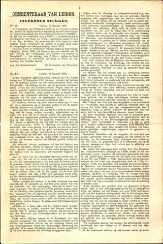 Handelingen van de Raad 1912-01-10