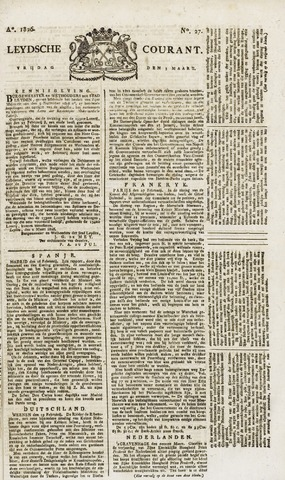 Leydse Courant 1826-03-03