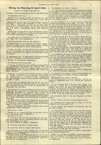 Handelingen van de Raad 1919-04-14