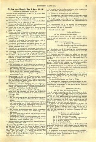 Handelingen van de Raad 1913-06-05
