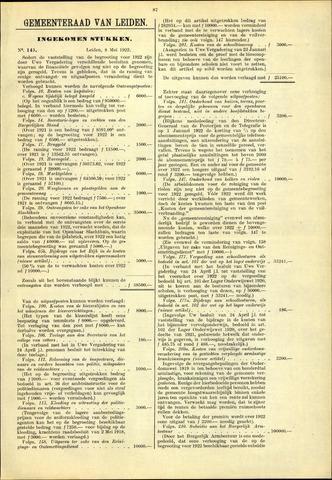 Handelingen van de Raad 1922-05-08