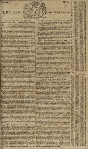 Leydse Courant 1765-10-09