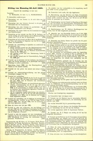 Handelingen van de Raad 1928-07-30