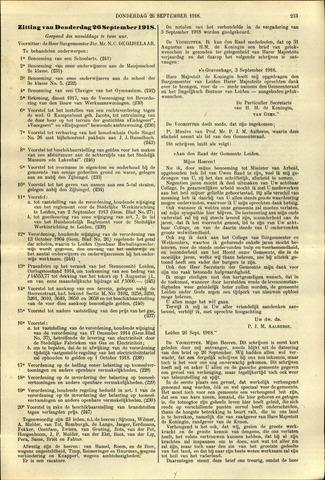Handelingen van de Raad 1918-09-26