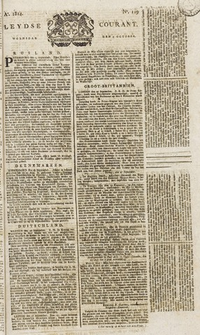 Leydse Courant 1814-10-05