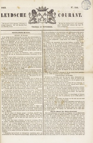 Leydse Courant 1862-11-21