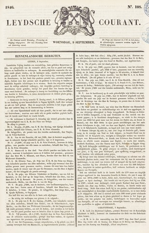 Leydse Courant 1846-09-09