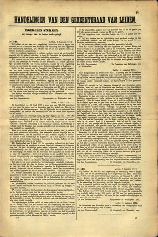 Handelingen van de Raad 1872-08-01