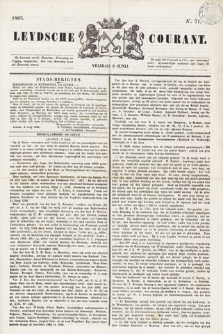 Leydse Courant 1865-06-09