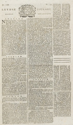 Leydse Courant 1820-10-09