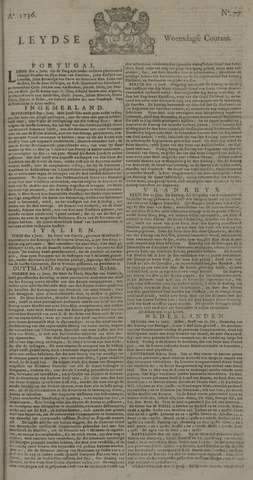 Leydse Courant 1736-06-27