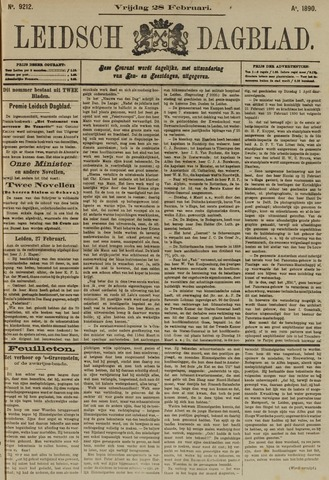 Leidsch Dagblad 1890-02-28