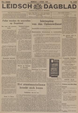 Leidsch Dagblad 1940-10-02