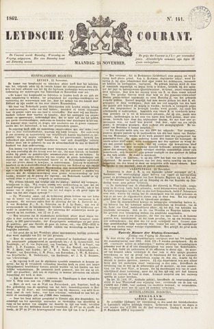 Leydse Courant 1862-11-24