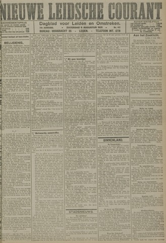 Nieuwe Leidsche Courant 1921-08-06