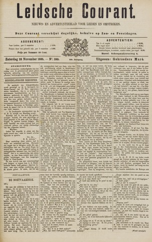 Leydse Courant 1885-11-28