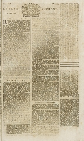 Leydse Courant 1819-09-13