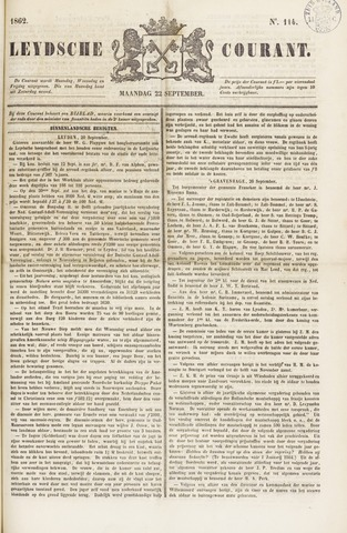 Leydse Courant 1862-09-22