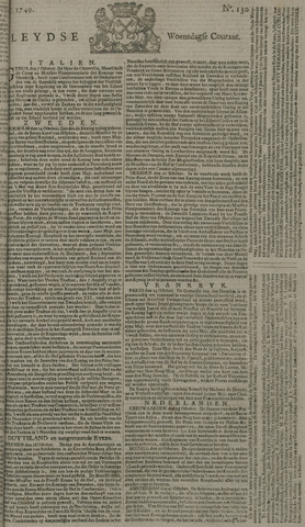 Leydse Courant 1749-10-29