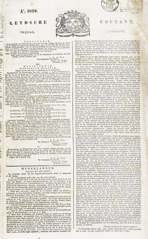 Leydse Courant 1839-01-04