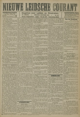 Nieuwe Leidsche Courant 1923-10-05