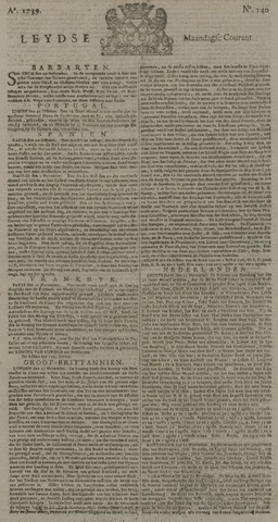 Leydse Courant 1739-11-23