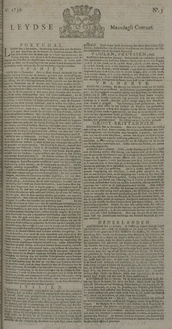 Leydse Courant 1739-01-12