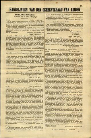 Handelingen van de Raad 1875-04-16
