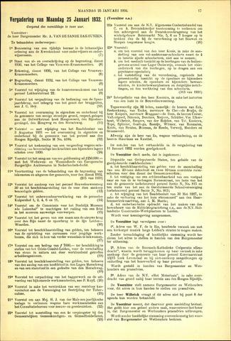 Handelingen van de Raad 1932-01-25
