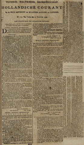 Leydse Courant 1795-11-27