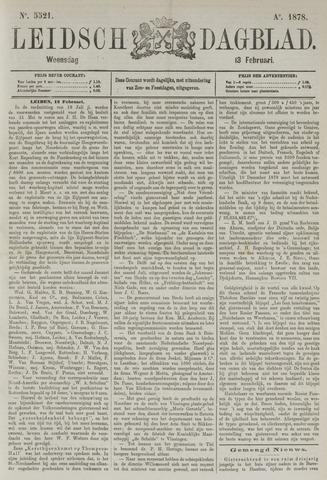 Leidsch Dagblad 1878-02-13