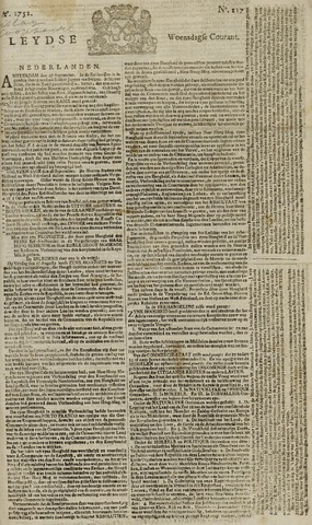 Leydse Courant 1751-09-29