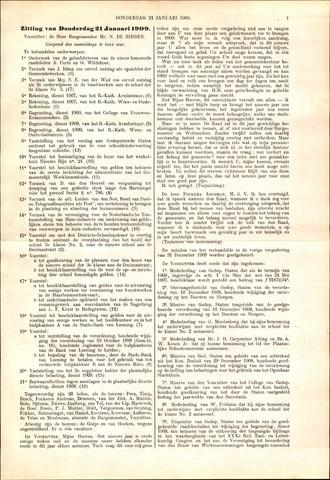 Handelingen van de Raad 1909-01-21