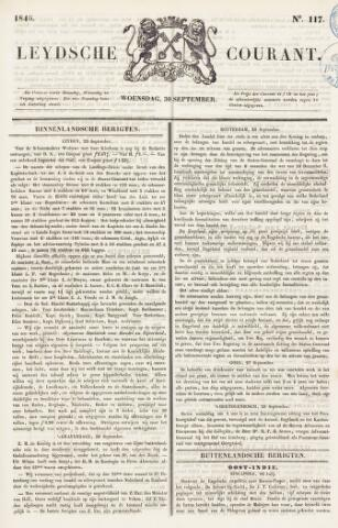 Leydse Courant 1846-09-30