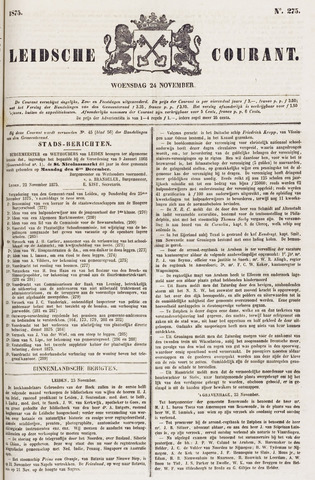 Leydse Courant 1875-11-24