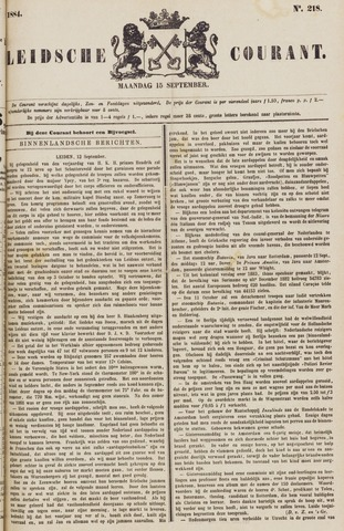 Leydse Courant 1884-09-15