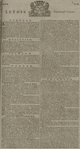 Leydse Courant 1729-05-25