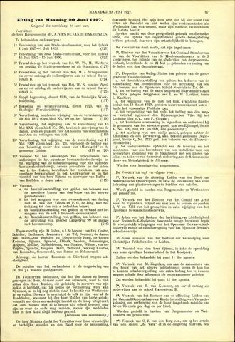 Handelingen van de Raad 1927-06-20