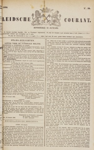 Leydse Courant 1884-01-31