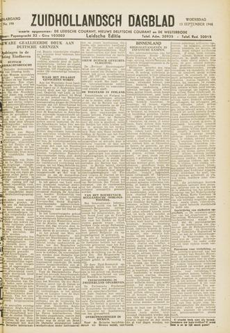 Zuidhollandsch Dagblad 1944-09-13